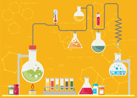 a solution tube: Medical laboratory infographics