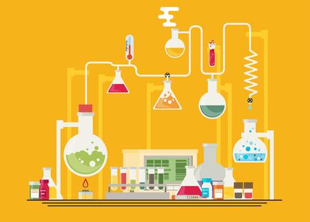 experimentation: Medical laboratory infographics
