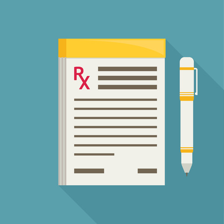 prescription pad: Prescription pad. Medical prescription vector illustration.