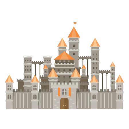 fantasy castle: Magic fantasy castle - flat style illustration.