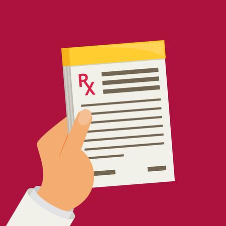 Pista de la prescripción. ilustración vectorial prescripción médica. Ilustración de vector