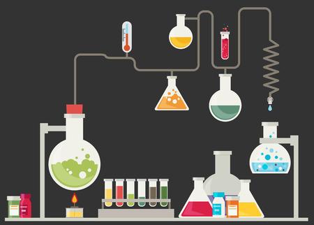 paramedical: Medical laboratory infographics