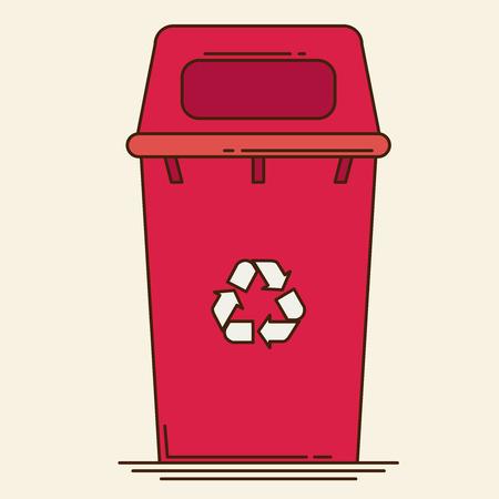 pail tank: Waste sorting garbage bin vector Illustration