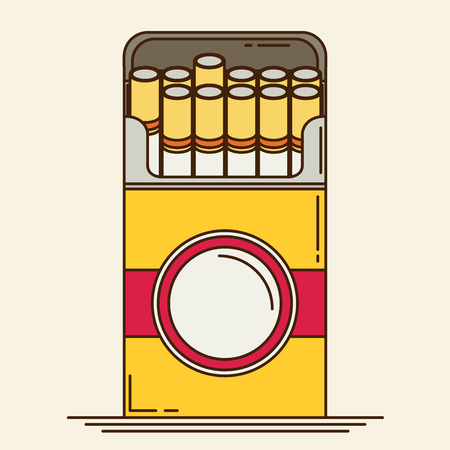 baccy: Cigarette. Flat vector.
