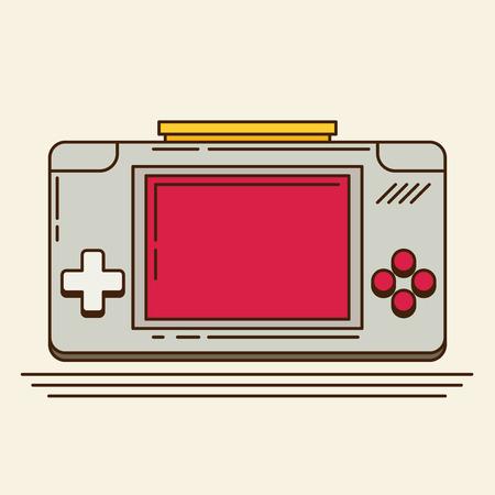 gadget: Old Gadget. Flat vector Illustration