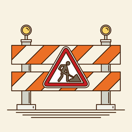 reconstruction: Under construction concept in flat design style, vector illustration