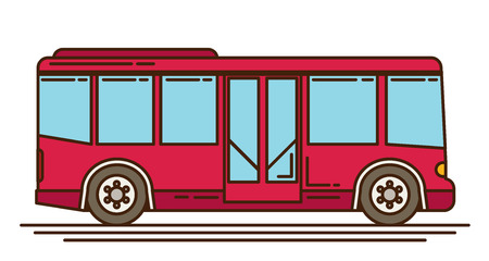 autobus: illustration of a bus, vector