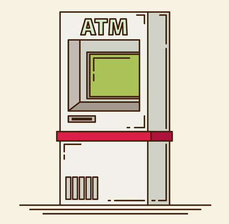 automatic transaction machine: M�quina de la atm�sfera - ilustraci�n vectorial