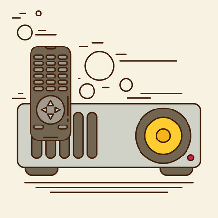 taught: Projector Icon Vector flat