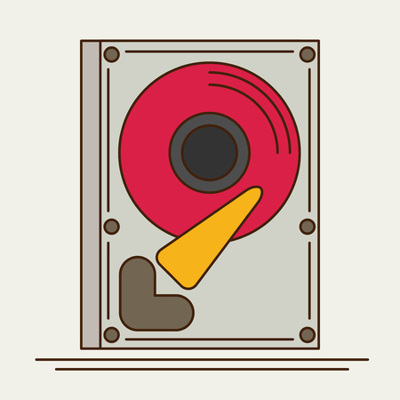 hard disk drive: Hard drive disk. Flat icon Illustration