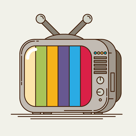 retro tv: Flat icon retro tv