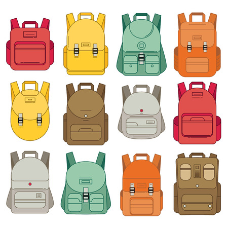 schoolbag: Schoolbag flat illustration. Bag for school.