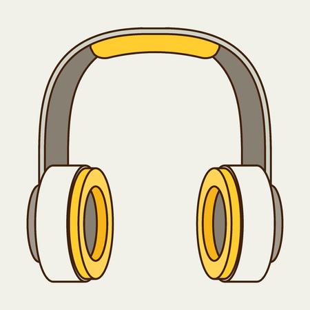 portable audio: Vector Headphones Icon