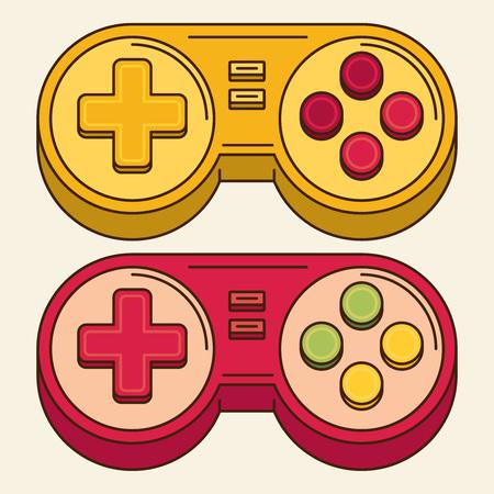 Vintage jeu Joystick. Vector Gamepad Icône