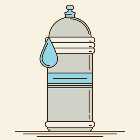 icon vector: Water bottle. Flat icon vector.