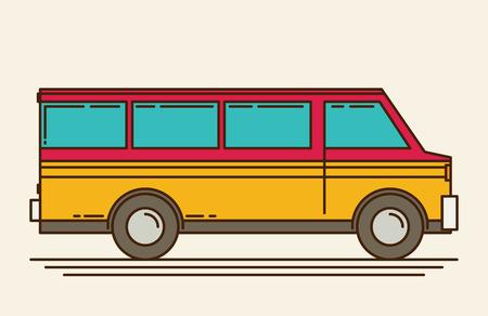 minivan: Vector illustration of minivan. 10