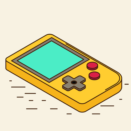 gadget: Old Gadget. Isometric flat icon.