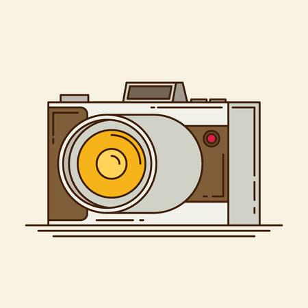 multiple exposure: camera flat icon