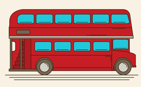 Een vector illustratie van een rode Londense bus