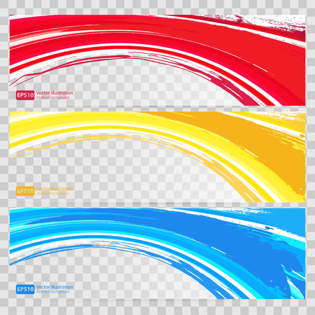 Abstract background set banners color