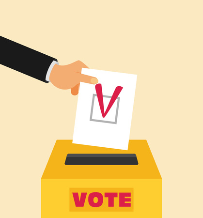 balloting: Elections - conceptual illustration. Election day