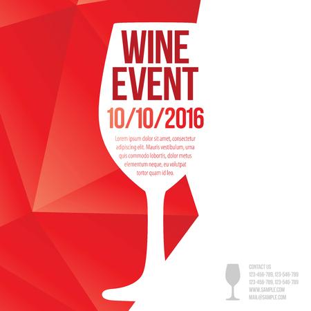 Design for wine event. Illusztráció