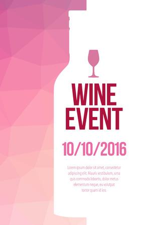 Design for wine event. Ilustração