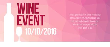 Design for wine event.  イラスト・ベクター素材