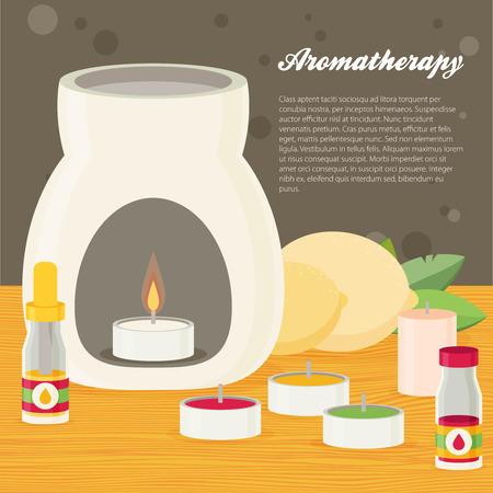 aroma: Vector aromatherapy, flat design