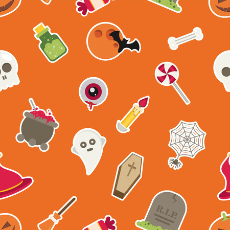 Halloween Seamless Pattern vector Illustration