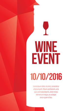 event: Design for wine event. Illustration