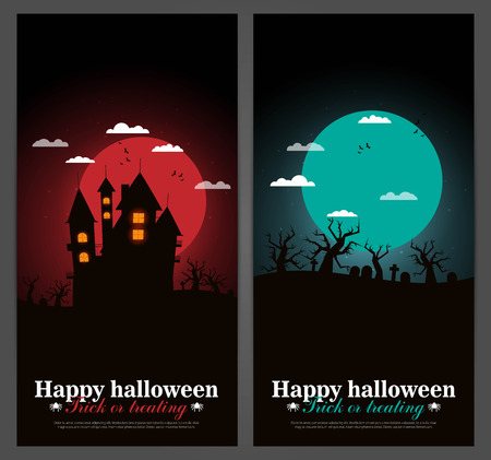bewitchment: Set of Halloween night backgrounds