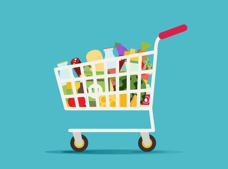 Supermarket shopping cart Illustration