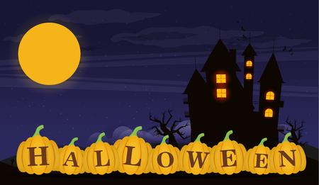 halloween background: Halloween cartoon background.