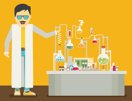 Laboratory Conceptual. Vector Illustration.