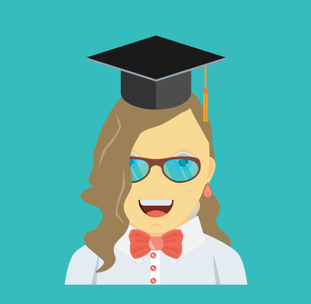 Graduating young woman