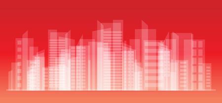 reflection of life: City Landscape vector illustration eps10 Illustration