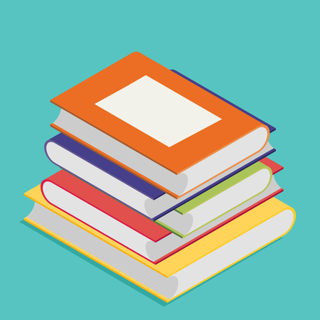 graphic novel: Isometric book icon vector illustration in flat design style