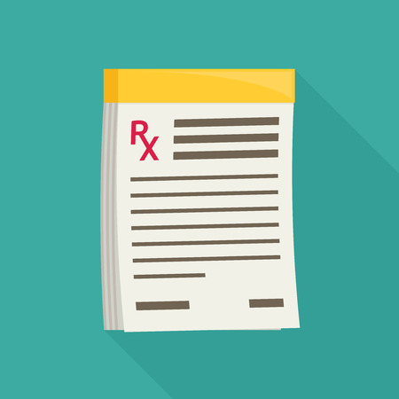 Prescription pad. Medical prescription vector illustration.