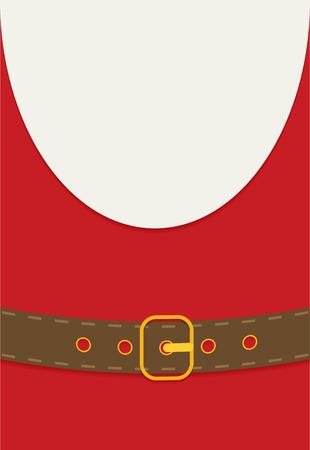 belt up: Flat style design. Santa Claus. Illustration