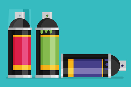 Spray Paint Can flat vector illustration Illustration