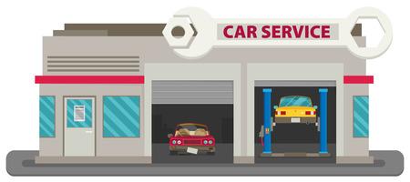 business service: Vector Car Service flat. Illustration