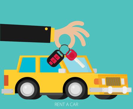 sell car: Rent a car design, vector illustration