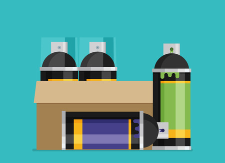 paint can: Spray Paint Can flat vector illustration Illustration