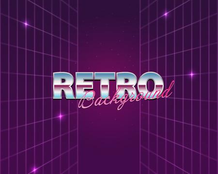 80s: Retro future, 80s style Sci-Fi Background.