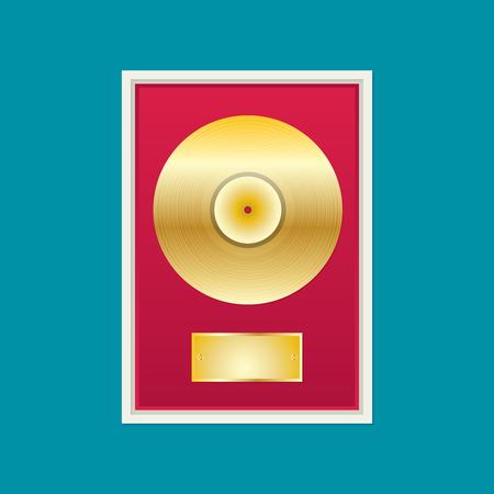 Flat disque vinyle. Banque d'images - 70509845