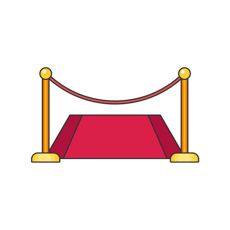 Red carpet flat vector