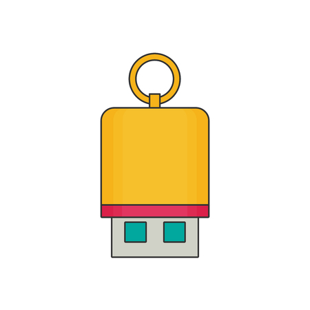 flash drive: Flash drive flat vector Illustration