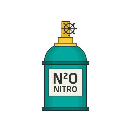 Car nitro flat vector Illustration