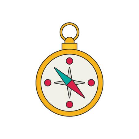 compas: Compas flat vector Illustration